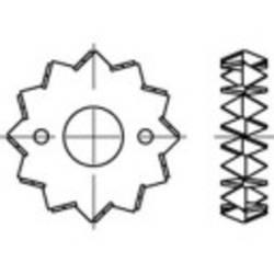 Tesařská hmoždinka TOOLCRAFT DIN 1052 Ocelový plech žárově pozinkovaný 100 ks