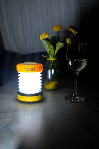 LED Camping-Laterne National Geographic LED-Laterne batteriebetrieben 118 g Gelb 9107100