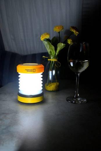 LED Camping-Laterne National Geographic LED-Laterne (Dynamo) 65 lm dynamobetrieben, über USB 168 g Gelb 9107000