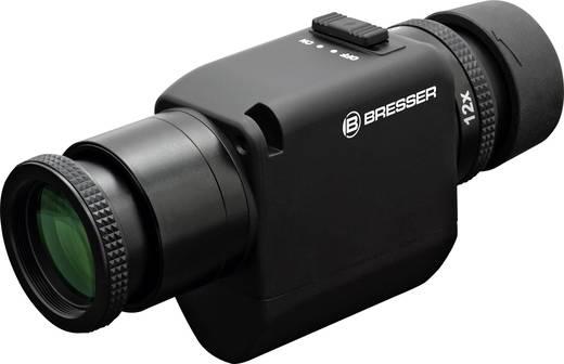 Monokular Bresser Optik Zoom mit Bildstabilisator 6 bis 12 x 30 mm Schwarz