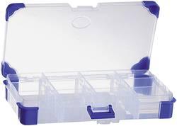 Krabička na malé součástky VISO, JAP 1710, přihrádek: 12, 165 x 90 x 30 , transparentní