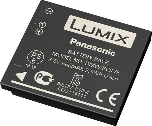 Kamera-Akku Panasonic DMW-BCK7E, NCAYN101H 3.6 V 680 mAh DMW-BCK7E