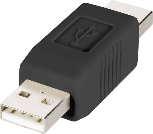 Renkforce USB Adapter [1x USB 2.0 Stecker A - 1x USB 2.0 Stecker A] rf-usba-02 vergoldete Steckkontakte