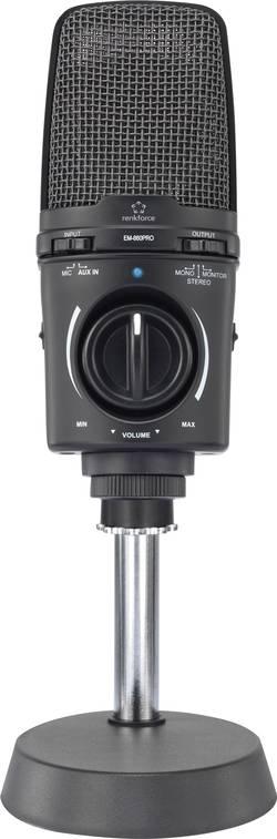 Studiový mikrofon s držákem pro stojan Renkforce EM-860Pro USB