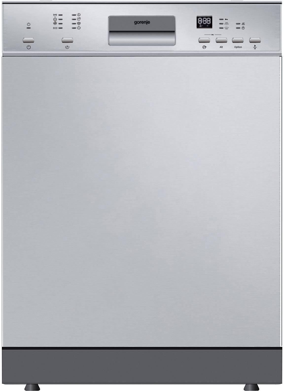 Einbau Geschirrspüler 60 Cm Gorenje GI63315X A++ Teilintegrierbar Silber
