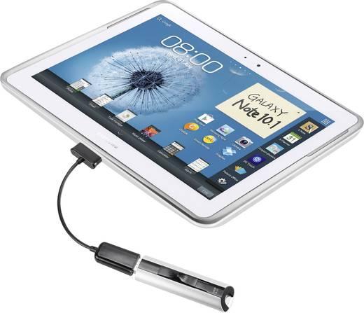 Renkforce USB 2.0 Anschlusskabel [1x Samsung Stecker - 1x USB 2.0 Buchse A] 0.1 m Schwarz mit OTG-Funktion, vergoldete S
