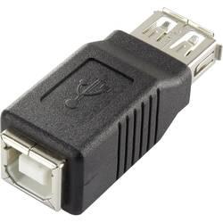 USB adaptér RENKFORCE 1x USB 2.0 zásuvka ⇔ 1x USB 2.0 zásuvka B, čierna, pozlátený