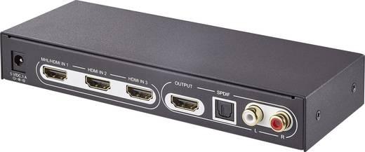 3 Port HDMI-Switch SpeaKa Professional 3D-Wiedergabe möglich, mit Fernbedienung 3840 x 2160 Pixel