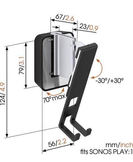 Lautsprecher-Wandhalterung Vogel´s SOUND 4201 Schwarz Passend für: Sonos 1
