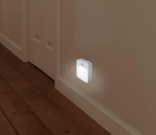 Renkforce 1360995 LED-Nachtlicht mit Bewegungsmelder Rechteckig LED Kalt-Weiß Weiß