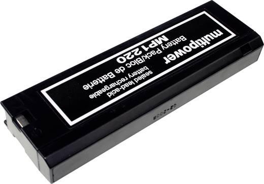 multipower MP1220 B20111 Bleiakku 12 V 2 Ah Blei-Vlies (AGM) (B x H x T) 201 x 61 x 25 mm Klemmpol Wartungsfrei, Geringe