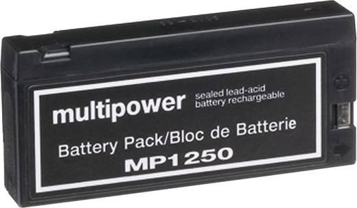 Bleiakku 12 V 2 Ah multipower MP1250 B20113MP Blei-Vlies (AGM) (B x H x T) 143 x 64 x 23 mm Klemmpol Wartungsfrei, Gerin