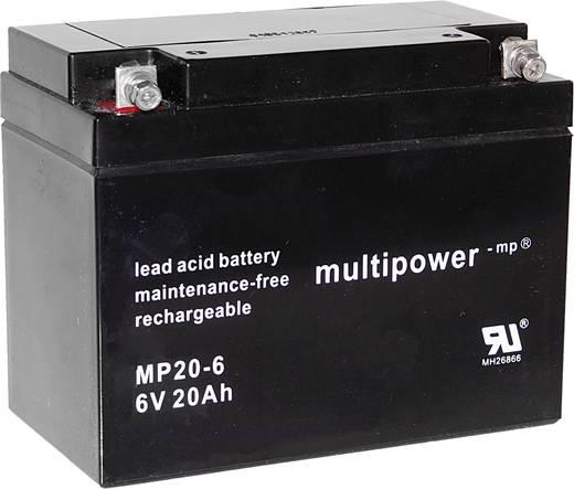 multipower MP20-6 A9621 Bleiakku 6 V 20 Ah Blei-Vlies (AGM) (B x H x T) 157 x 125 x 83 mm M5-Schraubanschluss Wartungsfr