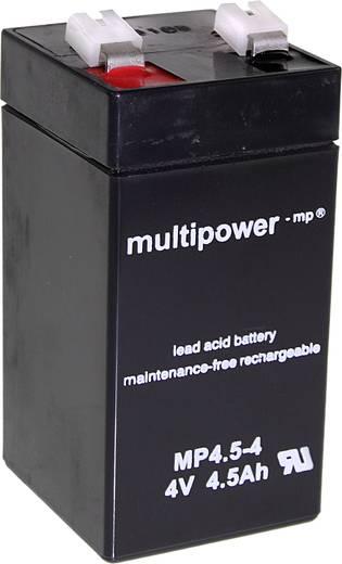multipower MP4,5-4 A960445 Bleiakku 4 V 4.5 Ah Blei-Vlies (AGM) (B x H x T) 48 x 100 x 52 mm Flachstecker 6.35 mm Wartu