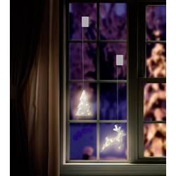 LED dekorácia do okna LED Polarlite LBA-50-020, na batérie, vianočný stromček