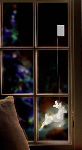 Fenster dekoration rentier warm wei led polarlite lba 50 for Rentier dekoration