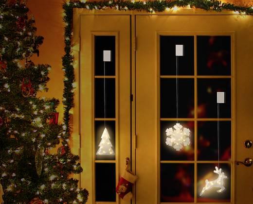 Fenster-Dekoration Rentier Warm-Weiß LED Polarlite LBA-50-018 Transparent