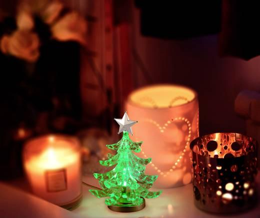 LED-Tischdeko Weihnachtsbaum RGB LED Polarlite LDE-01-001 Transparent