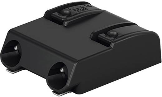 WAGO Federkraftklemmblock 0.75 mm² Polzahl 2 Schwarz 1 St.