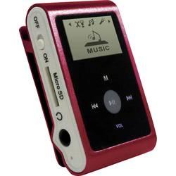 MP3 prehrávač mpman MP30WOM, 0 GB, upevňovací klip, červená