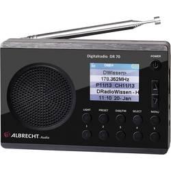 DAB+ a FM přenosné mini rádio s LED svítilnou Albrecht DR 70, černá