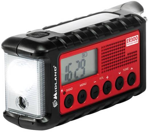 UKW Outdoorradio Midland C1173 UKW Taschenlampe, wiederaufladbar Schwarz, Rot