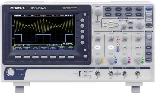VOLTCRAFT DSO-1074D Digital-Oszilloskop 70 MHz 4-Kanal 250 MSa/s 10 Mpts 8 Bit Digital-Speicher (DSO), Spectrum-Analyse