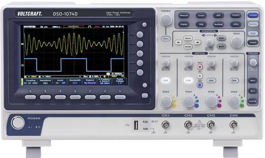 VOLTCRAFT DSO-1074D Digital-Oszilloskop 70 MHz 4-Kanal 250 MSa/s 10 Mpts 8 Bit Kalibriert nach DAkkS Digital-Speicher (D