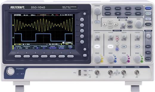 VOLTCRAFT DSO-1104D Digital-Oszilloskop 100 MHz 4-Kanal 250 MSa/s 10 Mpts 8 Bit Kalibriert nach ISO Digital-Speicher (DS