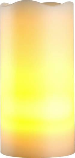 Polarlite LED-Echtwachskerze Elfenbein Warm-Weiß (Ø x H) 7.5 cm x 15 cm