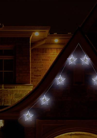 Polarlite Lichtervorhang-Sterne