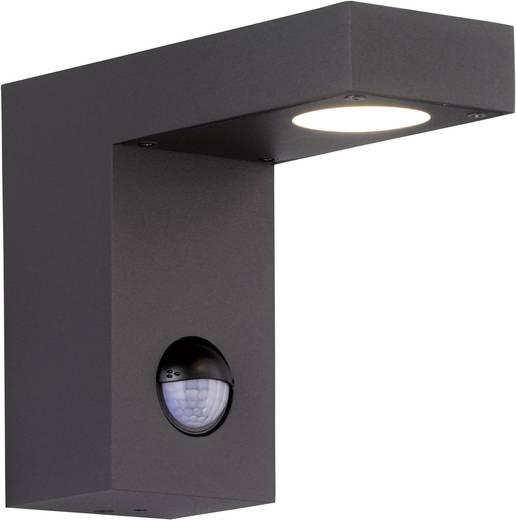 WOFI BROOKLYN 4830.01.88.0000 LED-Außenwandleuchte mit Bewegungsmelder 6 W Warm-Weiß Anthrazit