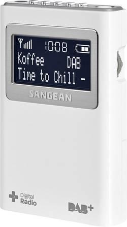 Vreckové DAB+ rádio Sangean DPR-39 +, FM, biela