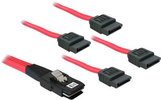 Festplatten Anschlusskabel [1x Mini SAS-Stecker (SFF-8087) - 4x SATA-Stecker 7pol.] 0.50 m Rot Delock
