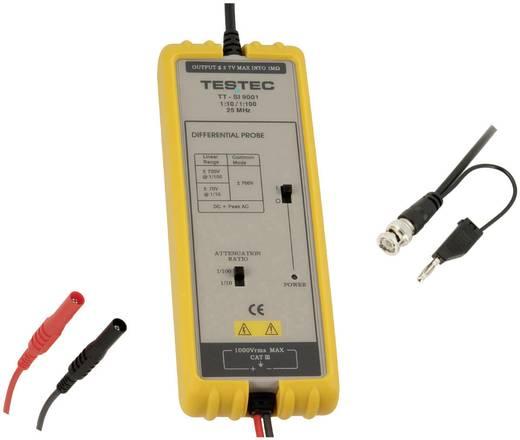 Differential-Tastkopf 25 MHz Kalibriert nach ISO 20:1, 200:1 1400 V Testec TT-SI 9002