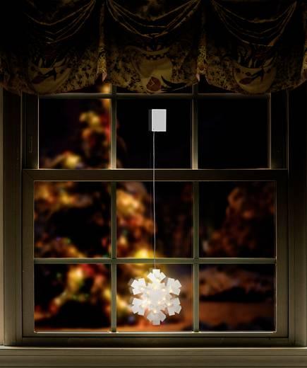 Fenster-Dekoration Schneeflocke Warm-Weiß LED Polarlite LBA-50-017 Transparent