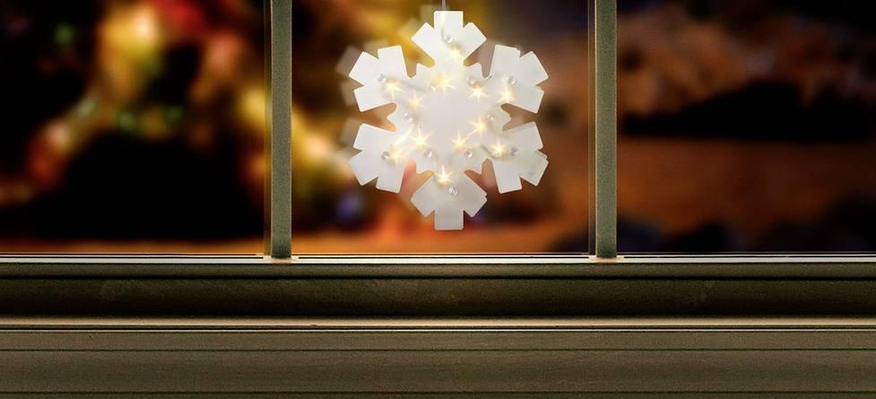 Polarlite LBA-50-017 LED-Fensterbild Schneeflocke