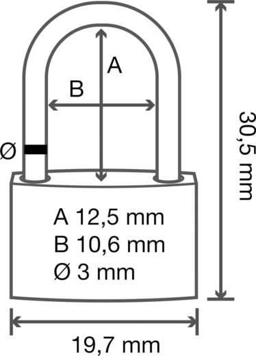 Vorhängeschloss Messing 20 mm Basetech Mit 3 Schlüsseln 1362630 Gold-Gelb Schlüsselschloss
