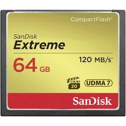 CF pamäťová karta, 64 GB, SanDisk Extreme® SDCFXSB-064G-G46