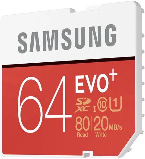 SDXC-Karte 64 GB Samsung EVO Plus Class 10, UHS-I