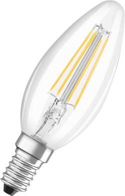 LED OSRAM 230 V, E14, 4 W = 37 W, 99 mm, teplá bílá, čirá, A++ (A++ - E) vlákno, 1 ks