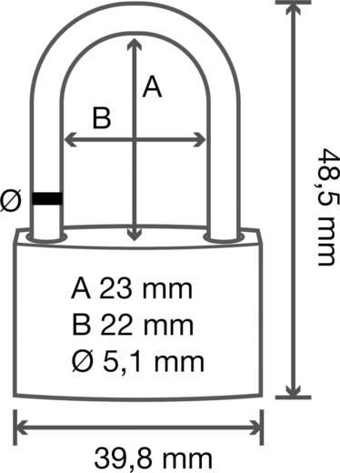 Vorhängeschloss Messing 40 mm Basetech Mit 3 Schlüsseln 1362992 Gold-Gelb Schlüsselschloss