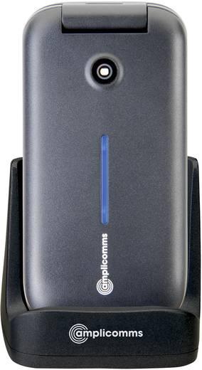 Amplicomms PowerTel M6700L mit Ladeschale Senioren-Klapp-Handy Schwarz