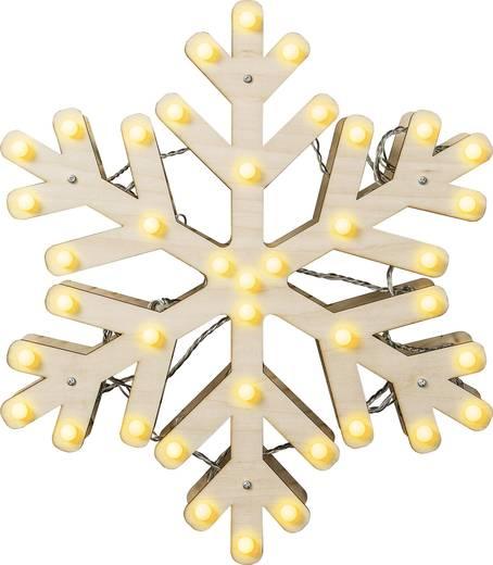 Polarlite LDE-04-005 LED-Tischdeko Schneeflocke Warm-Weiß LED Weiß