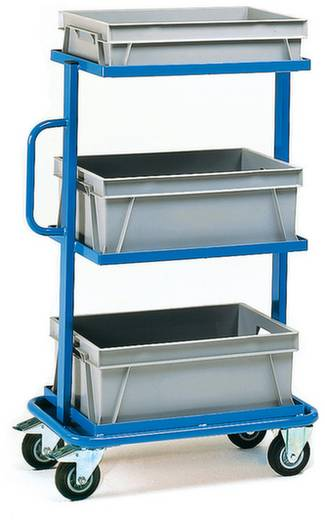 Fetra 32902 Etagenwagen Stahl pulverbeschichtet Traglast (max.): 200 kg Brillantblau (RAL 5007)