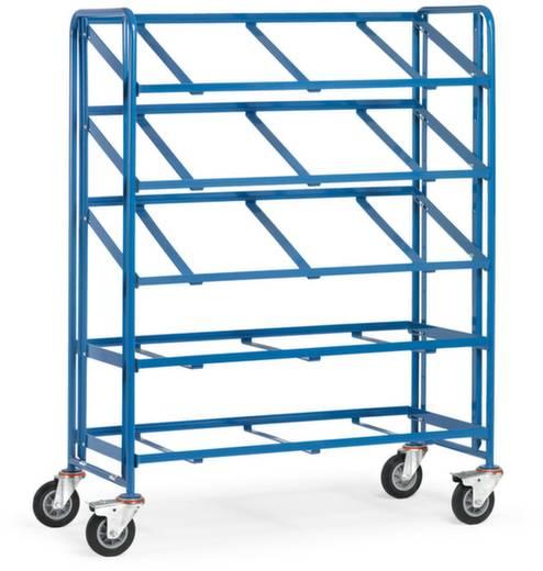 Fetra 1383 Etagenwagen Stahl pulverbeschichtet Traglast (max.): 250 kg Brillantblau (RAL 5007)