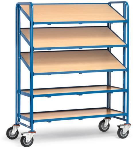 Etagenwagen Stahl pulverbeschichtet Traglast (max.): 250 kg Brillantblau (RAL 5007) Fetra 1384