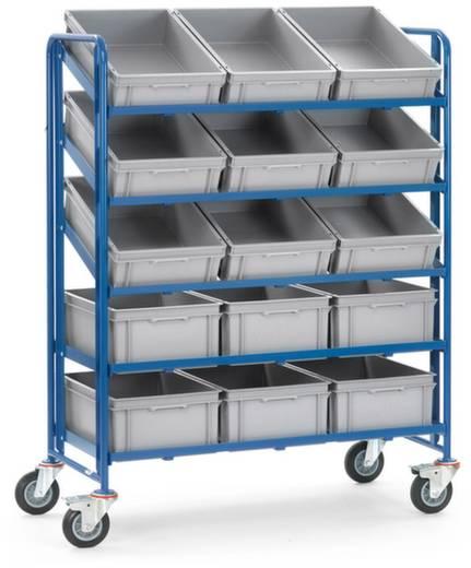 Fetra 1398 Eurokastenwagen Stahl pulverbeschichtet Traglast (max.): 250 kg Brillantblau (RAL 5007)