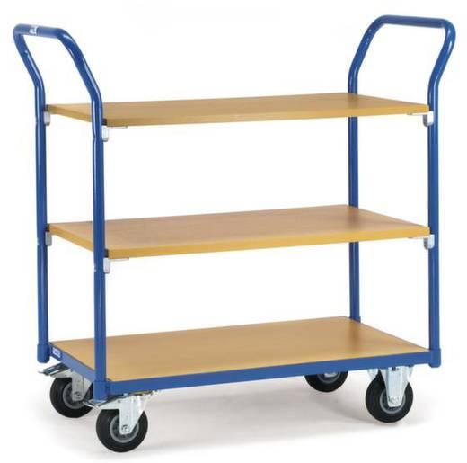 Tischwagen Stahl pulverbeschichtet Traglast (max.): 200 kg Brillantblau (RAL 5007) Fetra 1800