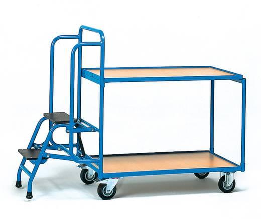 Kommissionierwagen Stahl pulverbeschichtet Traglast (max.): 250 kg Brillantblau (RAL 5007) Fetra 2105